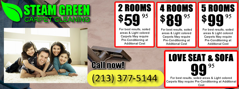 Coupons Steam Green Carpet Cleaning Los Angeles